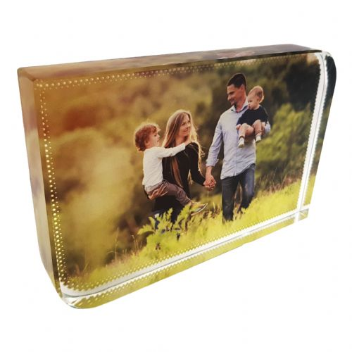 Personalised Small Sublimation Glass Photo Block